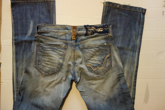 "Replay ""limited Edition"" Limited Edition European Blue Classic Wide Flare Leg Jeans-Medium Wash"