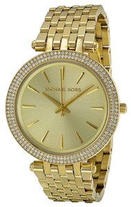 Michael Kors Michael Kors Gold Dial Pave Bezel Gold Ladies Watch