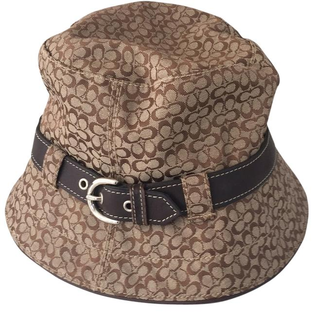 Item - Brown and Tan with Silver Buckle Hat