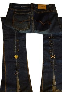A.B.S. by Allen Schwartz B. B. Wide Limited Edition Limited Edition Blue Flare Leg Jeans-Medium Wash