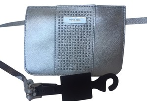 Michael Kors Silver Saffiano Studded fanny pack