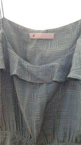 Geren Ford short dress Blue-grey Silk Geometric on Tradesy