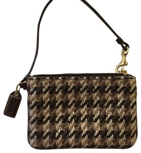 Coach Wristlet in Multicolor Brown