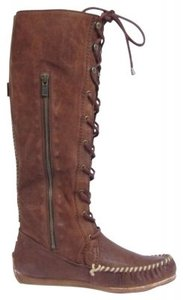 Frye The Alexa By \r\nmid-calf Leather Mocassin-style Brown/rust Boots