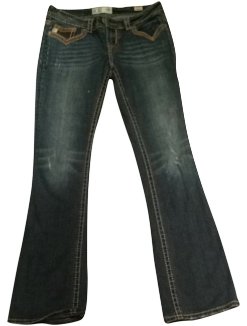 MEK DNM Boot Cut Jeans-Dark Rinse