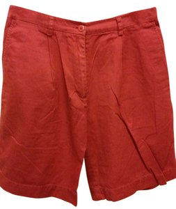 Laura Ashley Pleated Size 8 Bermuda Shorts Rusty Red
