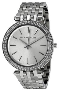 Michael Kors Michael Kors Crystal Silver Dial Pave Bezel Ladies Watch