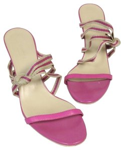 Gucci Ankle Strap Bamboo Gg Pink Pumps