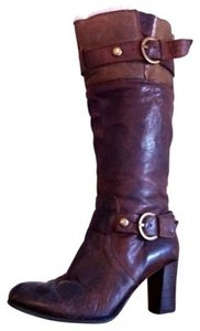 Nine West Brown Leather and Cognac Boots