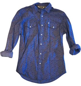 Salt Valley Button Down Shirt Blue/ Floral