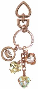 Juicy Couture Juicy Couture Rose Gold Gem Keychain