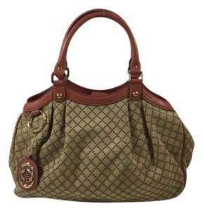 Gucci Tote in Brown/Rose