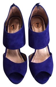 BCBGeneration Suede Date Night Pump Cobalt blue Platforms