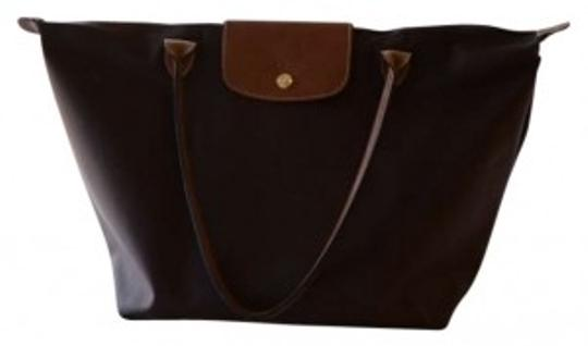 Longchamp Tote in chocolate