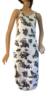 Pencey Standard short dress White with black-gray flowers on Tradesy
