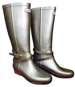 Hunter Wellington Silver Boots