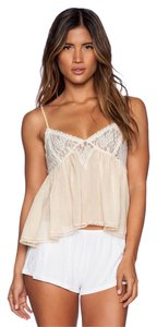Free People Baby Doll Cami Sweet Top LIGHT PEACH