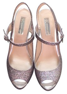 INC International Concepts Party Pump Fun Silver glitter Platforms