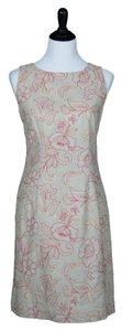 Coldwater Creek short dress Beige, Pink, Orange Embroidered Beige Linen on Tradesy