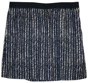 Ann Taylor LOFT Stripe Professional Work Striped Mini Skirt Blue, White