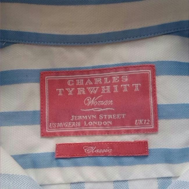 Charles Tyrwhitt Striped Button Down Shirt White