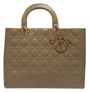 Dior Lady Large Purse Tote in Beige