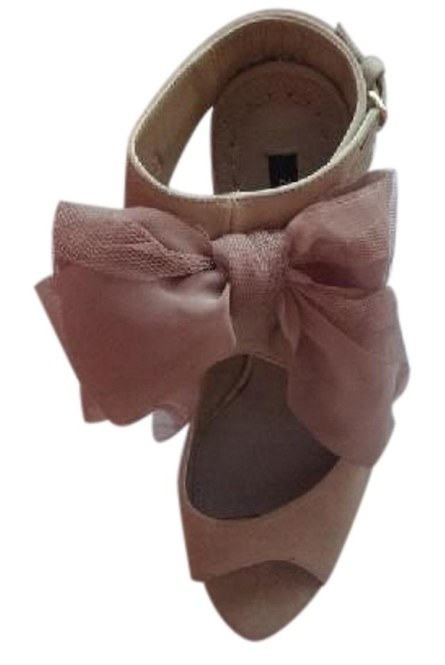 Zara Blush Suede / Nude / Pink Tulle / Suede Blush Ankle-strap Heels Pumps 76b58d