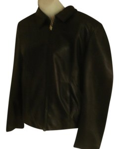 Adler Collection Lambskin Leather Black Jacket