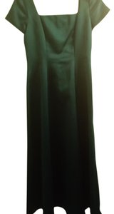 Teal/Emerald Green Polyester Cut #v9-60. Rn 69791 Modest Bridesmaid/Mob Dress Size 6 (S)