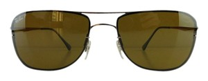 Ray-Ban New Ray-Ban Sunglasses RB 8054 158/83 Lightray Gloss Bronze Metal Polarized Brown 59mm Made in Italy
