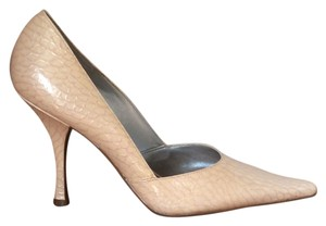 BCBGeneration Snakeskin Nude Stiletto Pumps