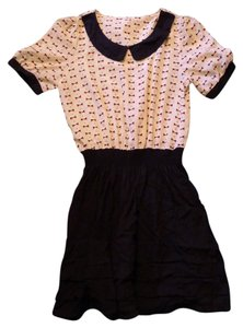 short dress Black Classic Collared Short Sleeve on Tradesy