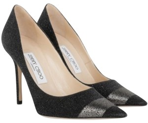 Jimmy Choo Black with gunmetal accent Pumps