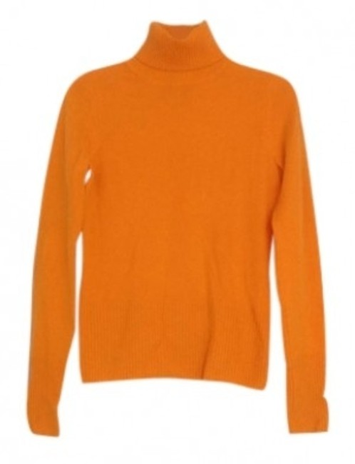Preload https://item1.tradesy.com/images/orange-cashmere-turtleneck-sweaterpullover-size-4-s-150265-0-0.jpg?width=400&height=650