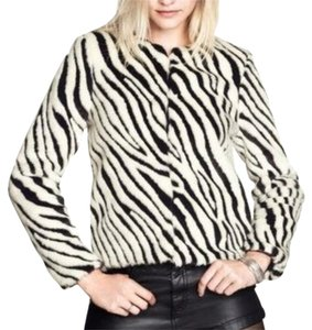 Divided by H&M Faux Fur Black and White Jacket