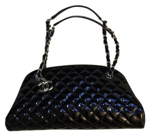 Chanel Patent Leather Quilted Like New Mademoiselle Shoulder Bag