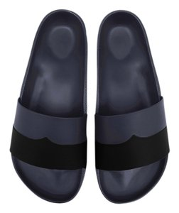 Hunter Moustache Slide Black Mules