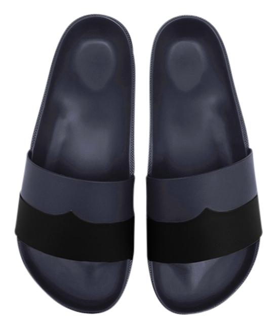 Item - Black New Moustache Two Tone Mules/Slides Size US 10 Regular (M, B)
