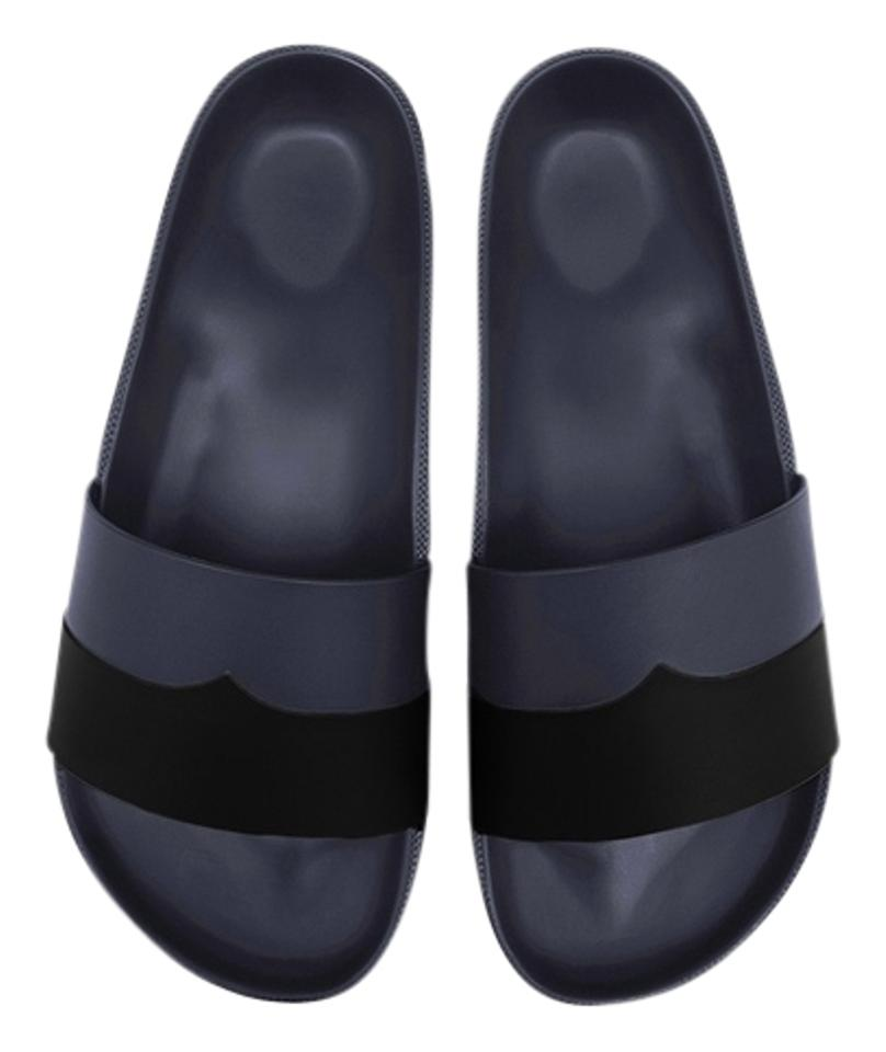 Hunter Black New Moustache Tone Two Tone Moustache Mules/Slides 47dcb9