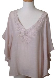 Spense Butterfly Flowy Nude Soft Top pale pink