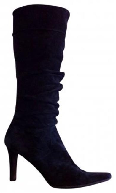 White Mountain Black Suede Cuffed with Ruching Detail Boots/Booties Size US 7 Regular (M, B) White Mountain Black Suede Cuffed with Ruching Detail Boots/Booties Size US 7 Regular (M, B) Image 1