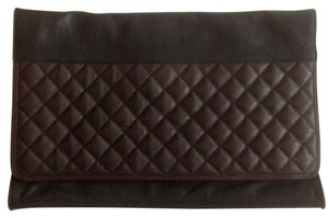 AllSaints Leather Black Clutch