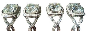 Sizes Size4 5 5.5 6 7 And 8 9 In Stock Ring Diamond Square Band Wedding Engagement Proposal Promise Bridal Girlfriend No