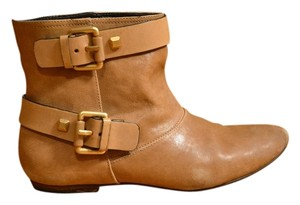 BCBGMAXAZRIA Leather Studded Tan Boots