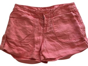 Michael Stars Linen Cuffed Shorts Coral
