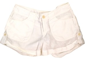 Michael Stars Linen Cuffed Shorts White