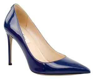 Valentino Rockstud Leather Blue Pumps