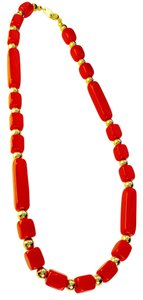 Trifari Red beaded necklace By Trifari