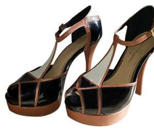 Jessica Simpson Black/tan/cream Pumps