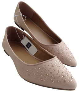 Gap Iridescent Ballet New Spring Tan Flats
